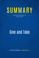 Summary  Give and Take
