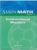 Saxon Math Course 1 Instructional Masters Book