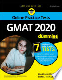 """GMAT For Dummies 2020: Book + 7 Practice Tests Online + Flashcards"" by Lisa Zimmer Hatch, Scott A. Hatch"