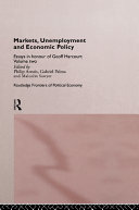 Markets  Unemployment  and Economic Policy