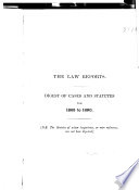 The Law Reports of the Incorporated Council of Law Reporting for England and Wales