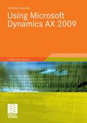 Using Microsoft Dynamics Ax 2009