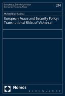 European Peace and Security Policy Pdf/ePub eBook