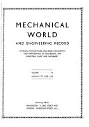 Mechanical World and Engineering Record