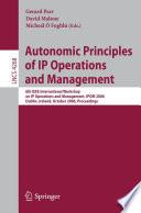 Autonomic Principles of IP Operations and Management