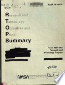 Research and Technology Objectives and Plans Summary (RTOPS)