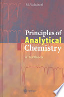 Principles Of Analytical Chemistry Book PDF