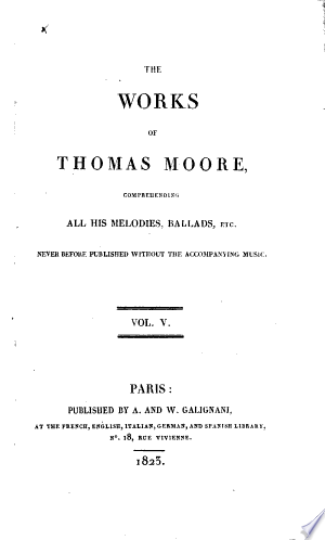 Read Online The Works of Thomas Moore .. Full Book