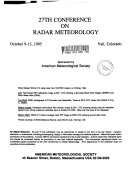 International Conference On Radar Meteorology Book PDF