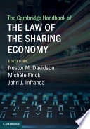 The Cambridge Handbook of the Law of the Sharing Economy Book