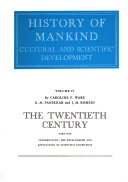 History of Mankind  The twentieth century  by C  F  Ware  K  M  Panikkar  and J  M  Romein  2 v