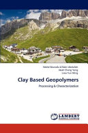 Clay Based Geopolymers Book