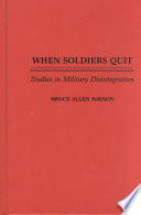 When Soldiers Quit