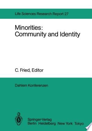 Download Minorities: Community and Identity PDF Book - PDFBooks