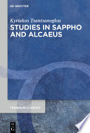 Studies in Sappho and Alcaeus
