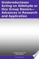 Oxidoreductases Acting On Aldehyde Or Oxo Group Donors Advances In Research And Application 2012 Edition Book PDF