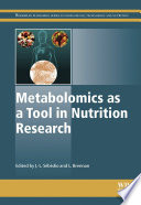 Metabolomics as a Tool in Nutrition Research