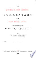 A homiletical commentary on the prophecies of Isaiah, by R.A. Bertram (and A. Tucker).