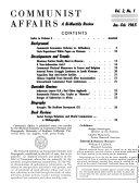 Communist Affairs Book