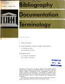 Bibliography  Documentation  Terminology