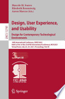 Design  User Experience  and Usability  Design for Contemporary Technological Environments