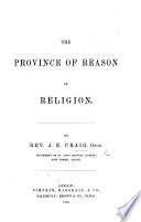 The province of reason in religion Book