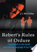Rebert S Rules Of Ordure Book PDF
