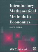 Cover of Introductory Mathematical Methods in Economics