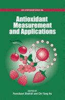 Antioxidant Measurement And Applications Book PDF