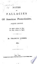 Notes On Fallacies Of American Protectionists