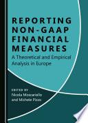 Reporting Non GAAP Financial Measures Book
