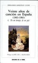 Veinte años de canción en España (1963-1983)