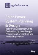Solar Power System Planning   Design