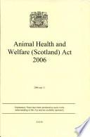 Animal Health and Welfare  Scotland  Act 2006 Book