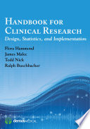 Handbook For Clinical Research Book PDF
