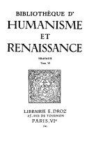 Read Online Bibliothèque d'humanisme et Renaissance For Free