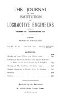 The Journal of the Institution of Locomotive Engineers