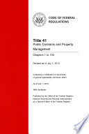 Title 41 Public Contracts And Property Management Chapters 1 To 100 Revised As Of July 1 2013  Book PDF
