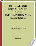 Ethical and Social Issues in the Information Age Book PDF