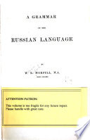 A grammar of the Russian language