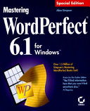 Pdf Mastering WordPerfect 6.1 for Windows
