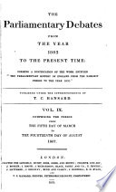 The Parliamentary Debates From The Year 1803 To The Present Time 05 Book PDF