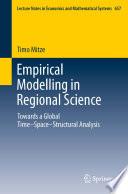 Empirical Modelling In Regional Science