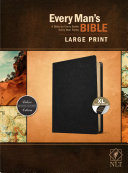 Every Man s Bible Nlt  Large Print  Genuine Leather  Black  Indexed