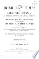 The Irish Law Times and Solicitors  Journal