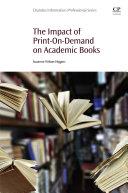 Pdf The Impact of Print-On-Demand on Academic Books
