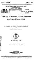 Earnings in Eastern and Midwestern Airframe Plants, 1942