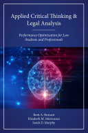 Applied Critical Thinking and Legal Analysis