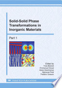 Solid Solid Phase Transformations in Inorganic Materials Book