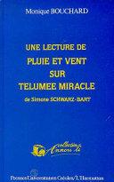 Une lecture de Pluie et vent sur Télumée Miracle de Simone Schwarz-Bart